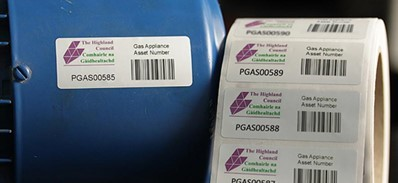 Durable Asset ID Barcode Labels