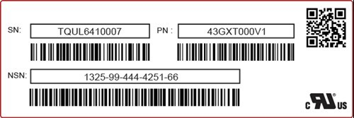 Blank Printed label example